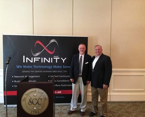 Chuck Brown and Bill Hubbard at Savannah Chamber New Member Orientation
