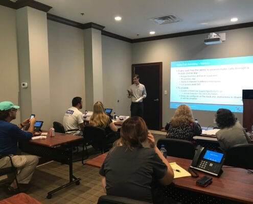 Ryan providing LifeCycle Voice Insider Training to clients