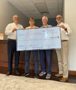 Jacob Mitchell and father Barry with Chuck and David Brown 2021 scholarship winner