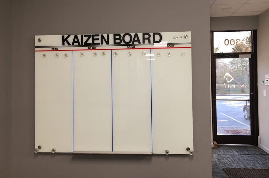 Kaizen board - how to cut down on business waste