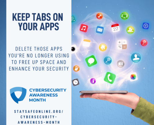 Cybsersecurity Awareness Month - keep tabs on your apps