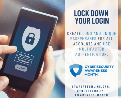 Cybersecurity Awareness Month - lock down your login