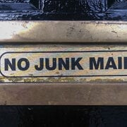 no junk mail sign for email protection and spam filtering
