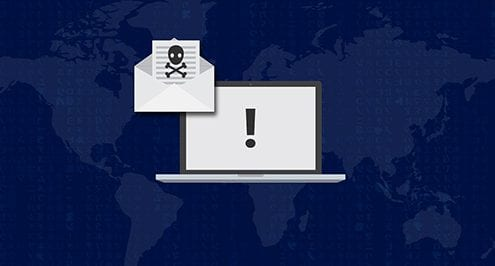 improve cyber security image of computer over globe
