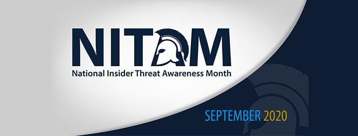 National Insider Threat Awareness Month 2020 logo