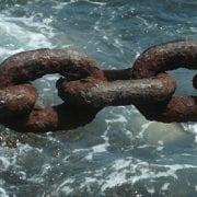 phishing weakest link, chain over water