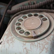 dirty disconnected rotary phones