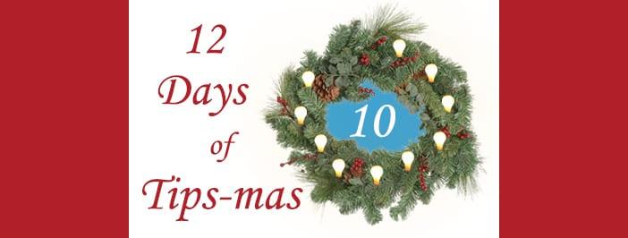 12 days of tips-mas wreath 10