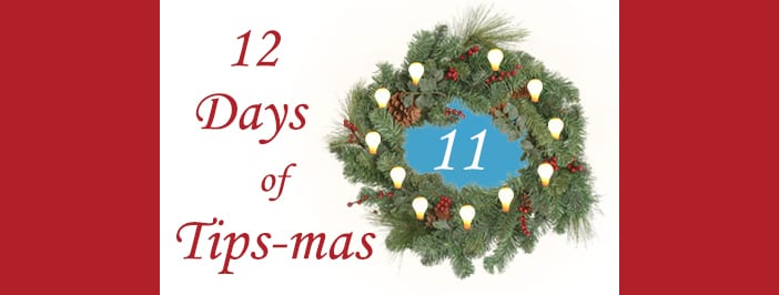 12 days of tips-mas wreath 11