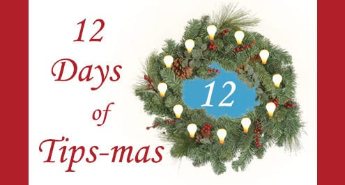 12 days of tips-mas wreath 12