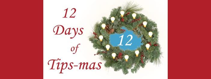 12 days of tips-mas wreath 12