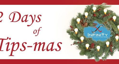 12 Days of Tips-mas wreath with lightbulbs