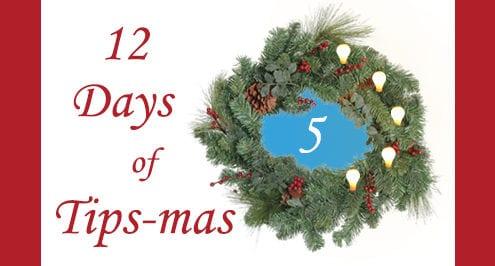12 days of tips-mas wreath 5