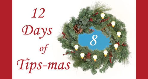 12 days of tips-mas wreath 8