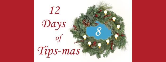 12 days of tips-mas wreath 8