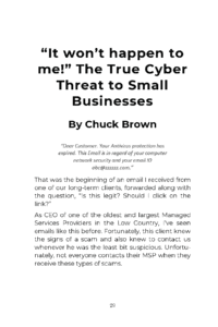 Chuck Brown chapter title in Hack Proof Your Business