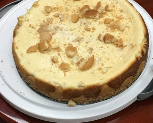 Banana Cheesecake made by Chuck Brown
