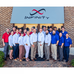 Infinity Inc managed services employees smiling