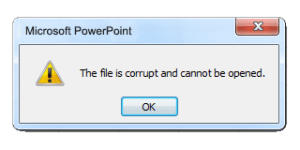 importance of backups - powerpoint file is corrupt error