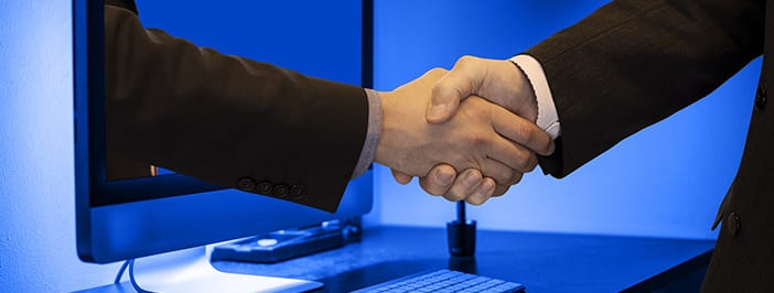 handshake through computer