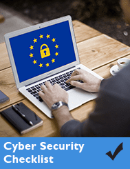 cyber security checklist cover of laptop with padlock