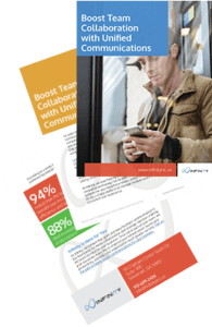 Boost Team Collaboration with Unified Communications cover and pages